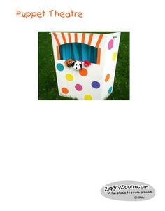 Puppet Theatre - I think I could actually make this and it would be easy to store away when not using it!