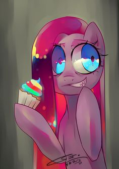 My Little Pony: Friendship is Magic Pinkie Pie CUPCAKES I love this creepypasta