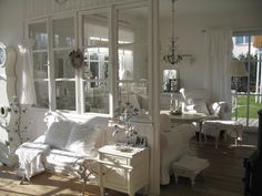 Dining Room & Living Room Whitewashed Cottage chippy shabby chic french…