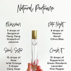 Make your own perfume with essential oils!Make health essential oils Perfume Diesel, Essential Oil Perfume, Essential Oil Uses, Essential Oil Roller Bottles, Parfum Bio, Perfume Glamour, Homemade Beauty Products, Handmade Soaps, Essential Oil Blends