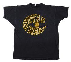 "70's PRINTWEAR ""BRYAN BEARS"" ブラック 100%コットン Tシャツ 表記(L)"