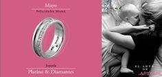 Mayo... Felicidades Mama ♥♥♥  Joyería de Platino & Diamante / Argollas de Matrimonio Oro & Platino / Anillos de Compromiso Platino & Diamante / Churumbelas...  #mayo #eshoradecompartir #momentos #viernes #yonovia #joyería #amor #tbt #compromiso