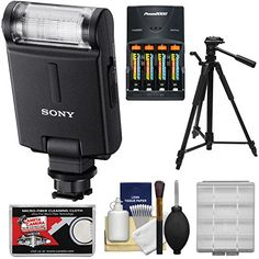 Sony Alpha HVL-F20M External Flash with Batteries
