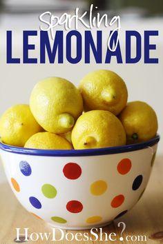 Refreshing Sparkling Lemonade Recipe from HowDoesShe?