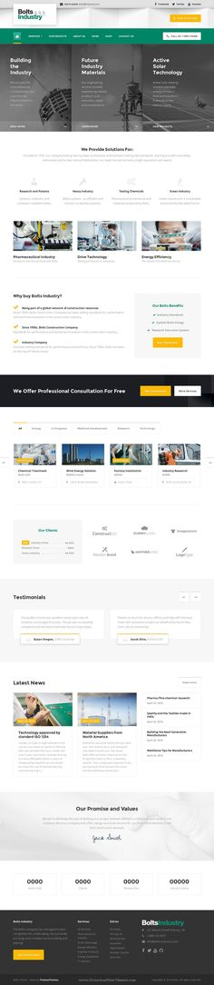 Bolts is a new, multipurpose and customizable WordPress #template suitable for construction, transport, factory, and #industry #website. Download Now!