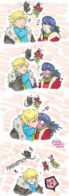 Miraculous Ladybug: Under the Mistletoe by Kiyomi-chan16 on DeviantArt