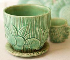 green McCoy flowerpot