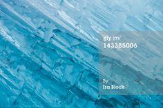 Stock Photo : Blue glacial ice sculpture found at Endicott Arm near Dawes Glacier.