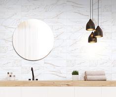 Small Tiles | CALACATTA | Wall, 10x33 cm, Matt - Glossy #egeseramik #perfectbeauty #ceramic #tiles #design #homedesign #smalltiles Small Tiles, House Design, Mirror, Bathroom, Furniture, Home Decor, Washroom, Decoration Home, Room Decor