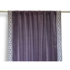 Velvet Curtains With Greek Key Embroidery -Gray Purple Velvet Drapes... (6,780 INR) via Polyvore featuring home, home decor, window treatments, curtains, purple curtains, velvet window treatments, grey curtains, purple window treatments and gray curtains
