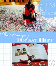 The Amazing DrawBot from TinkerLab the book. This is a must-do project from this must-read book!  Includes awesome video!
