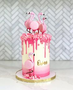 Flamingo Cupcakes, Pink Flamingo Party, Flamingo Birthday, Beautiful Cakes, Amazing Cakes, Summer Cakes, Drip Cakes, Cute Cakes, Creative Cakes