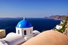 © Blue of Santorini Island