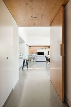 = timber + extra wide |> doors  Elsternwick Extension | ArchitectureAU
