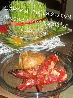 Cokina kulinarstva: POSNE SUVE PAPRIKE I SARMA