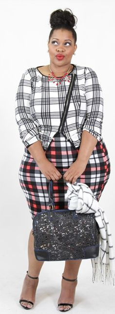 Plus size plaid moment!  Sizes 12-32 at Society+.