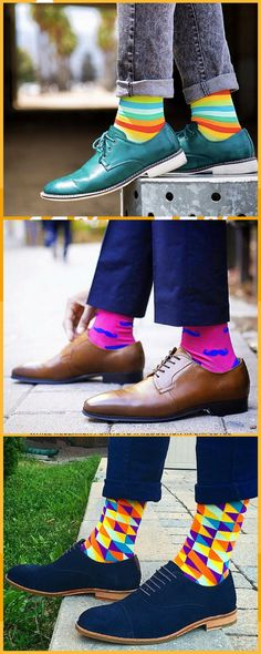 We design crazy socks for men and women. New cool socks launching every month. Designed to be the best socks you've ever worn. High quality funny socks designed to get compliments. Funky Socks, Colorful Socks, Fashion Socks, Sneakers Fashion, Men's Fashion, Style Masculin, Dapper Men, Mens Fashion Suits, Mens Clothing Styles