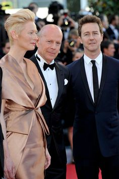 Diane, Eva, Jessica, and More Get Glam to Open Cannes: Tilda Swinton, Bruce Willis, and Edward Norton accompanied each other on the red carpet for the opening of the Cannes Film Festival and the premiere of Moonrise Kingdom.