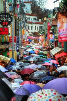 Tokyo rainy day