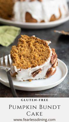 Gluten Free Treats, Gluten Free Cakes, Gluten Free Baking, Gluten Free Desserts, Gluten Free Recipes, Gluten Free Pumpkin, Pumpkin Recipes, Fall Recipes, Fall Desserts
