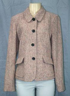 New FOSSIL Pink Tweed Wool Coat Jacket Sz 8 M Vintage-Inspired Cute!! | eBay