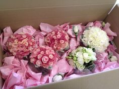 Roses & lizzies for bridal boquet