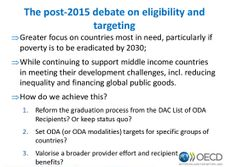 The #post2015 debate on eligibility & targeting ODA