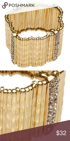 18K Plated Bracelet with Crystals Super stunning. 18k gold plated bracelet. Must own for the holiday season. Super fantastic gift idea too!  Price firm. Bundle to save 20% always in my closet. TJ Jewelry Bracelets