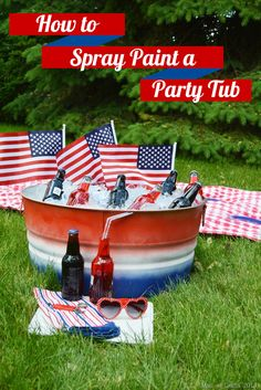 How to Spray Paint a Party Tub - Mad in Crafts @Victor Mota Mota Voznyuk™ Paint
