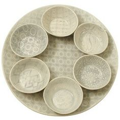 Multi-Patterned Seder Plate - The Jewish Museum Shops