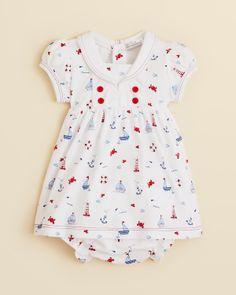 Kissy Kissy's Infant Girls' Navigator Print Dress and Diaper Cover Set floats my boat
