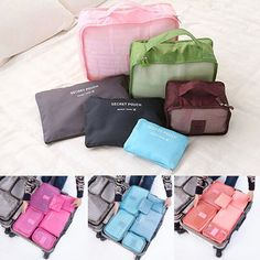 6Pcs Waterproof Travel Storage Bags Packing Cube Clothes Pouch Luggage Organizer Cheap - NewChic Mobile.