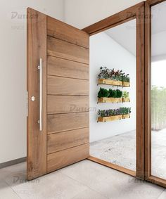 29 Beautiful Front Door Ideas to Make Great First Impressions can completely change your house's decor. Check out this listing for essentially the most stunning ones that need little care! Modern Entrance Door, Modern Exterior Doors, Modern Front Door, Front Door Entrance, House Front Door, House Doors, Main Entrance Door Design, Wood Exterior Door, Wooden Front Door Design