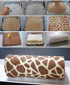 Giraffe Swiss Roll Recipe