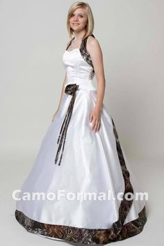camo and orange wedding gowns this would be cute for a flower girl ...