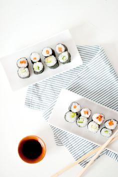 Recette de makis healthy aux légumes (vegan, sans gluten) www.sweetandsour.fr