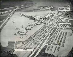 The old Greater Pittsburgh airport Pennsylvania History, Old Pictures, Old Photos, Pittsburgh International Airport, Pittsburgh City, Local History, Best Cities
