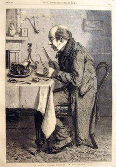 §§§ . The Bachelor's Christmas Dinner ~ The Illustrated London News 1865