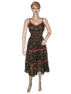 Womens Chiffon Dress- Floral Printed Brown Pink Maxi Dress with Adjustable Waist Mogul Interior, http://www.amazon.com/gp/product/B008Z9FHEM/ref=cm_sw_r_pi_alp_TTpmqb1HZEEYS