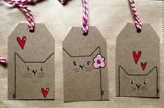 diy gifts These tagged envelopes add a first-class touch to your first-class mail. Perfect for gifts too! Get the DIY instructions at Oh Crafts. Cat Crafts, Arts And Crafts, Christmas Tag, Christmas Crafts, Handmade Christmas, Halloween Crafts, Cat Tags, Diy Cards, Paper Crafting
