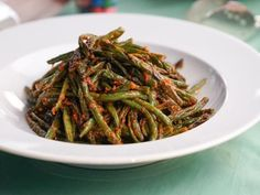 Get Blistered Green Beans with Spicy Chile Sauce Recipe from Food Network