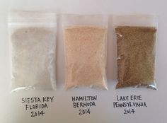 Beach Sand Siesta Key Florida Pure White Specimen Hamilton Bermuda and Lake Erie PA