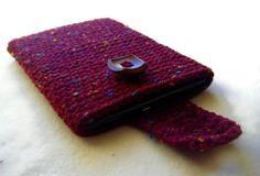 Crochet Kindle Nook EReader Sleeve Cover Wine by EpicHandmades
