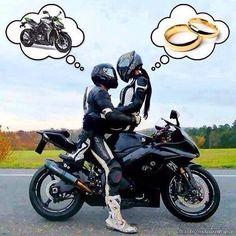 Imagenes De Parejas En Moto Con Frases De Amor Humor Pinterest