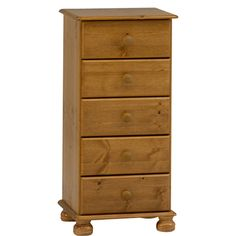 Salisbury Pine 5 Drawer Narrow Chest from The Original Factory Shop
