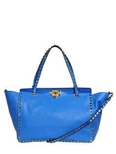 Valentino medium rockstud nappa leather bag