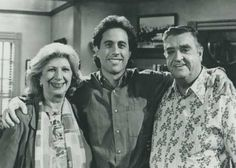 Liz Sheridan, Jerry Seinfeld, and Barney Martin.