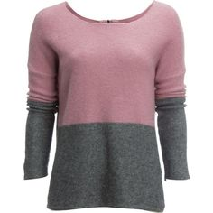 Carve Designs Carmel Colorblocked Sweater (1,685 MXN) ❤ liked on Polyvore featuring tops, sweaters, zipper sweater, layered sweater, zip sweater, block sweater and purple sweaters