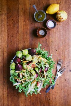 Post image for Fig and Pear Salad with Vanilla Bean Vinaigrette from Brooklyn Supper