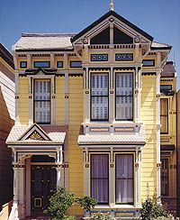 Stick stayed stylish all through the 1890s in San Francisco, bringing intricate, Eastlake-inspired façade ornament to countless wood row houses. Photo Courtesy of Douglas Keister